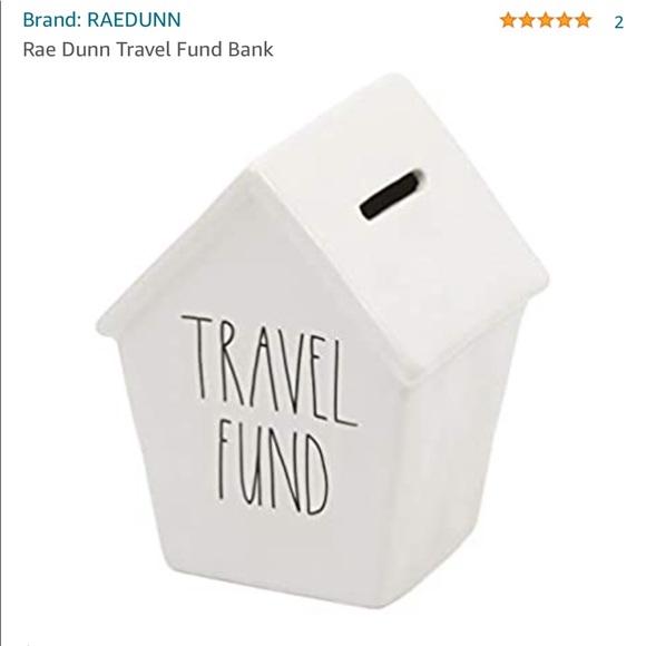 RAE DUNN Travel Funds Bank